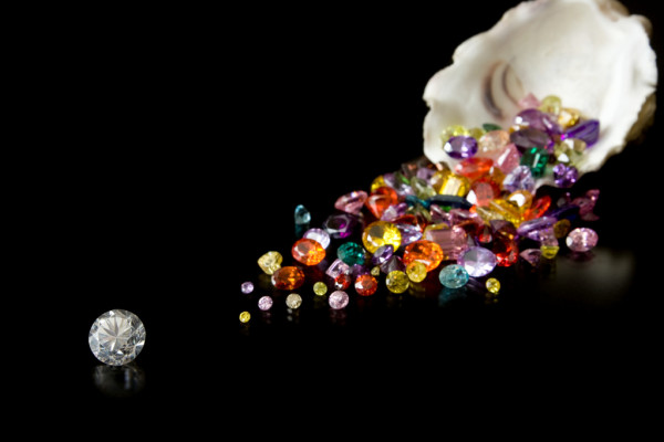 Depositphotos 9384097 Stock Photo Diamond And Gems From Oyster